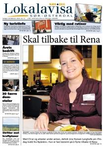 Faksimile Lokalavisa Sør-Østerdal