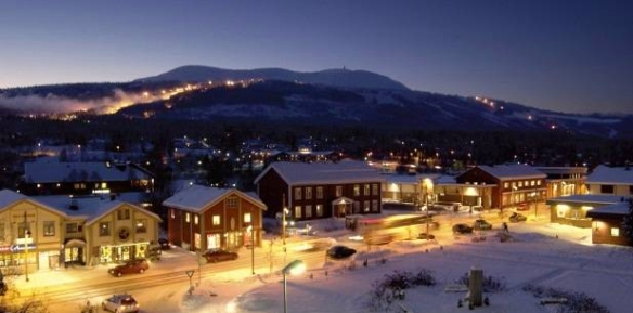 Trysil by night. Foto: Finansavisen
