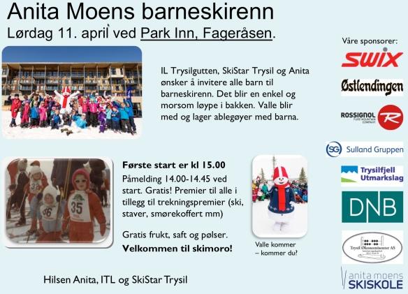 Anita Moen Barneskirenn i Trysil - Malmlaft